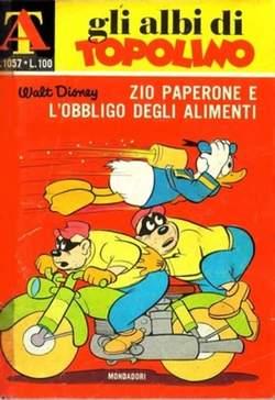 Copertina ALBI DI TOPOLINO n.1057 - Zio Paperone e l'obbligo degli alimenti, MONDADORI EDITORE
