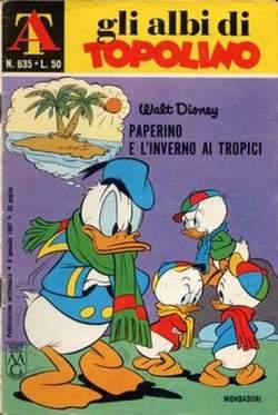 Copertina ALBI DI TOPOLINO n.635 - Paperino e l'inverno ai tropici, MONDADORI EDITORE