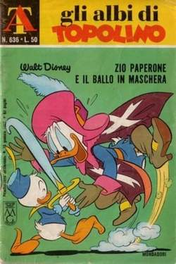 Copertina ALBI DI TOPOLINO n.636 - Zio Paperone e il ballo in maschera, MONDADORI EDITORE