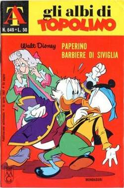 Copertina ALBI DI TOPOLINO n.649 - Paperino barbiere di Siviglia, MONDADORI EDITORE