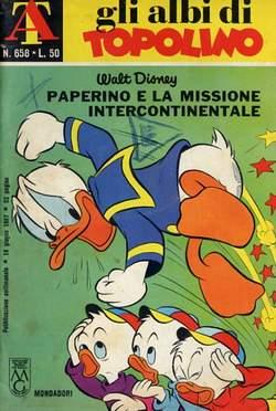 Copertina ALBI DI TOPOLINO n.658 - Paperino e la missione intercontinentale, MONDADORI EDITORE