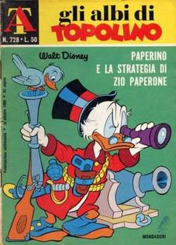 Copertina ALBI DI TOPOLINO n.728 - Paperino e la strategia di Zio Paperone, MONDADORI EDITORE