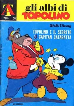 Copertina ALBI DI TOPOLINO n.729 - Topolino e il segreto di capitan Cataratta, MONDADORI EDITORE