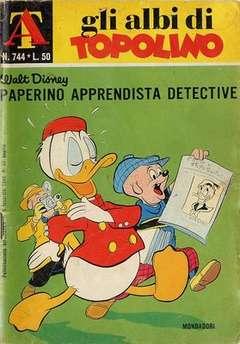 Copertina ALBI DI TOPOLINO n.744 - Paperino apprendista detective, MONDADORI EDITORE