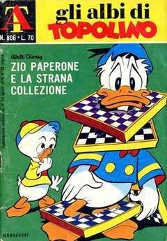 Copertina ALBI DI TOPOLINO n.806 - Zio Paperone e la strana collezione, MONDADORI EDITORE