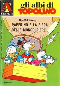 Copertina ALBI DI TOPOLINO n.830 - Paperino e la fiera delle mongolfiere, MONDADORI EDITORE