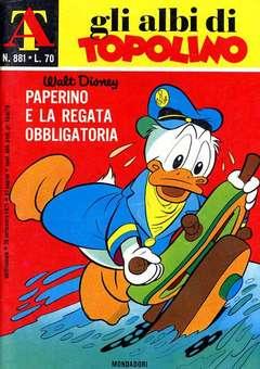 Copertina ALBI DI TOPOLINO n.881 - Paperino e la regata obbligatoria, MONDADORI EDITORE