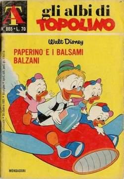 Copertina ALBI DI TOPOLINO n.885 - Paperino e i balsami balzani, MONDADORI EDITORE