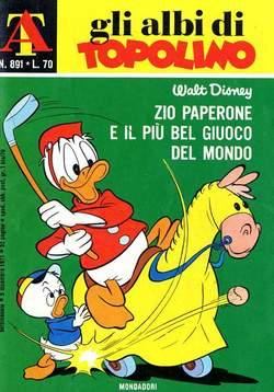 Copertina ALBI DI TOPOLINO n.891 - Zio Paperone e il più bel giuoco del mondo, MONDADORI EDITORE