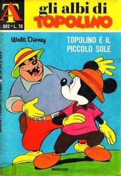 Copertina ALBI DI TOPOLINO n.892 - Topolino e il piccolo sole, MONDADORI EDITORE