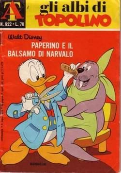 Copertina ALBI DI TOPOLINO n.922 - Paperino e il balsamo di narvalo, MONDADORI EDITORE