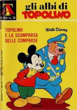 Copertina ALBI DI TOPOLINO n.923 - Topolino e la scomparsa delle comparse, MONDADORI EDITORE