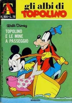 Copertina ALBI DI TOPOLINO n.925 - Topolino e le mine a passeggio, MONDADORI EDITORE