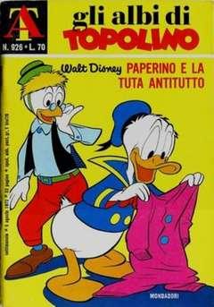 Copertina ALBI DI TOPOLINO n.926 - Paperino e la tuta antitutto, MONDADORI EDITORE
