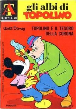 Copertina ALBI DI TOPOLINO n.927 - Topolino e il tesoro della corona, MONDADORI EDITORE