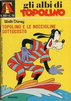 Copertina ALBI DI TOPOLINO n.931 - Topolino e le noccioline sottocosto, MONDADORI EDITORE