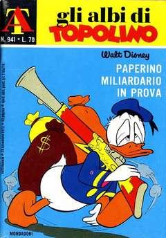 Copertina ALBI DI TOPOLINO n.941 - Paperino miliardario in prova, MONDADORI EDITORE