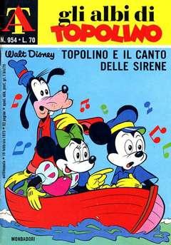 Copertina ALBI DI TOPOLINO n.954 - Topolino e il canto delle sirene, MONDADORI EDITORE