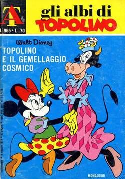Copertina ALBI DI TOPOLINO n.965 - Topolino e il gemellaggio cosmico, MONDADORI EDITORE