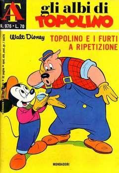 Copertina ALBI DI TOPOLINO n.976 - Topolino e i furti a ripetizione, MONDADORI EDITORE