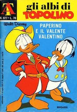 Copertina ALBI DI TOPOLINO n.977 - Paperino e il valente Valentino, MONDADORI EDITORE