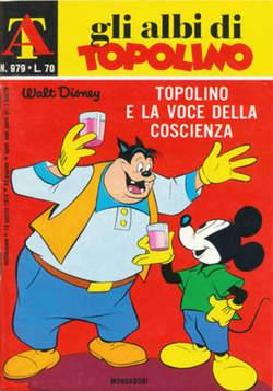 Copertina ALBI DI TOPOLINO n.979 - Topolino e la voce della coscienza, MONDADORI EDITORE