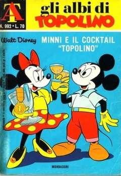 """Copertina ALBI DI TOPOLINO n.992 - Minni e il cocktali """"Topolino"""", MONDADORI EDITORE"""