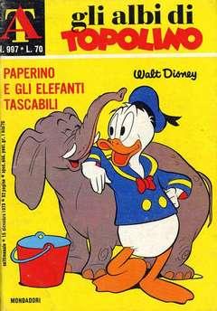 Copertina ALBI DI TOPOLINO n.997 - Paperino e gli elefanti tascabili, MONDADORI EDITORE