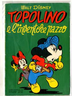 Copertina ALBO D'ORO n.119 - Topolino e l'inventore pazzo, MONDADORI EDITORE