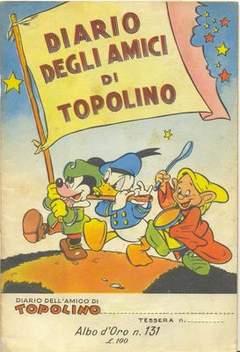 Copertina ALBO D'ORO n.131 - Diario degli amici di Topolino, MONDADORI EDITORE