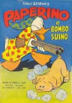 Copertina ALBO D'ORO n.229 - Paperino e Bombo suino, MONDADORI EDITORE
