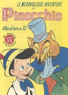 Copertina ALBO D'ORO n.32 - Le meravigliose avventure di Pinocchio, MONDADORI EDITORE