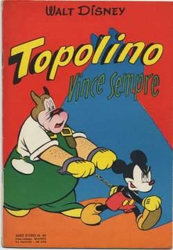 Copertina ALBO D'ORO ANNO 1953 n.44 - Topolino vince sempre, MONDADORI EDITORE