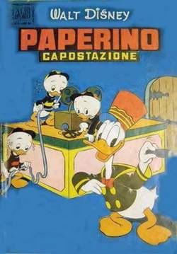 Copertina ALBO D'ORO ANNO 1953 n.8 - PAPERINO CAPOSTAZIONE, MONDADORI EDITORE
