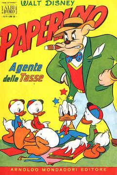 Copertina ALBO D'ORO ANNO 1954 n.10 - Paperino agente delle tasse, MONDADORI EDITORE