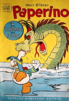 Copertina ALBO D'ORO ANNO 1954 n.24 - Paperino e il terrore del fiume, MONDADORI EDITORE