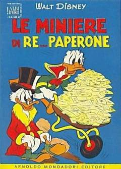 Copertina ALBO D'ORO ANNO 1954 n.39 - Le miniere di re... Paperone, MONDADORI EDITORE