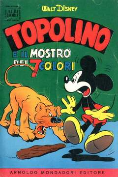 Copertina ALBO D'ORO ANNO 1955 n.21 - Topolino e il mostro dei 7 colori, MONDADORI EDITORE