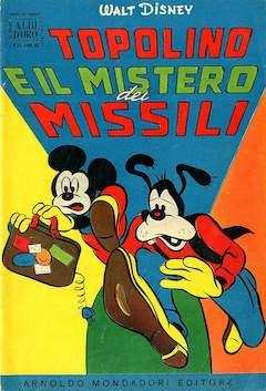 Copertina ALBO D'ORO ANNO 1955 n.22 - Topolino e il mistero dei missili, MONDADORI EDITORE