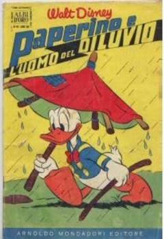 Copertina ALBO D'ORO ANNO 1955 n.45 - Paperino e l'uomo del diluvio, MONDADORI EDITORE