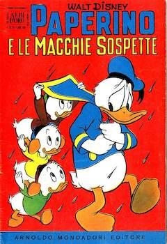 Copertina ALBO D'ORO ANNO 1956 n.21 - Paperino e le macchie sospette, MONDADORI EDITORE