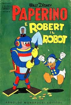 Copertina ALBO D'ORO ANNO 1956 n.26 - Paperino e Robert il robot, MONDADORI EDITORE