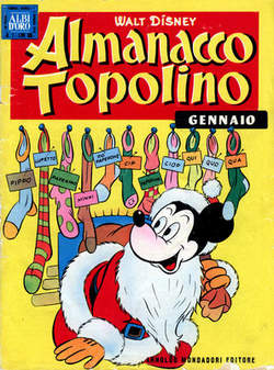 Copertina ALMANACCO TOPOLINO n.13 - ALMANACCO TOPOLINO 13, MONDADORI EDITORE