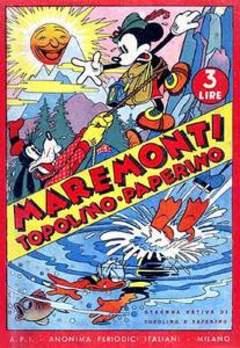 Copertina ALMANACCO TOPOLINO ANTEGUERRA n.1940 - Maremonti Topolino-Paperino, MONDADORI EDITORE