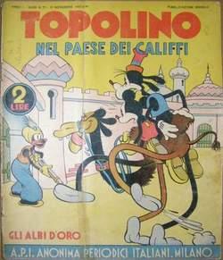 Copertina GLI ALBI D'ORO n.11 - TOPOLINO NEL PAESE DEI CALIFFI, MONDADORI EDITORE