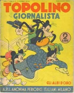 Copertina GLI ALBI D'ORO n.12 - TOPOLINO GIORNALISTA, MONDADORI EDITORE