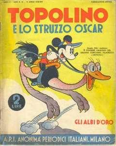 Copertina GLI ALBI D'ORO n.16 - TOPOLINO E LO STRUZZO OSCAR, MONDADORI EDITORE