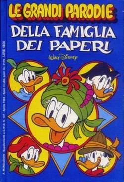 Copertina GRANDI PARODIE n.2 - LE GRANDI PARODIE DELLA FAMIGLIA DEI PAPERI, MONDADORI EDITORE