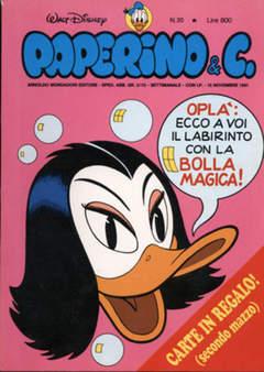 Copertina PAPERINO & C. n.20 - Paperino & C., MONDADORI EDITORE