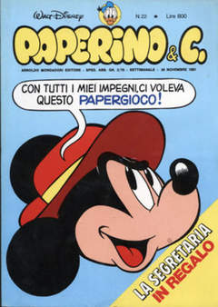 Copertina PAPERINO & C. n.22 - Paperino & C., MONDADORI EDITORE